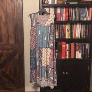 Multi colored high low maxi dress-never been worn